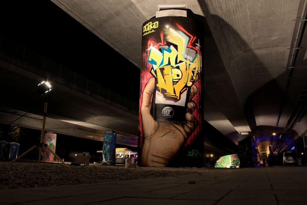 Graffiti in Ludwigsfelde - Max Kosta 2014