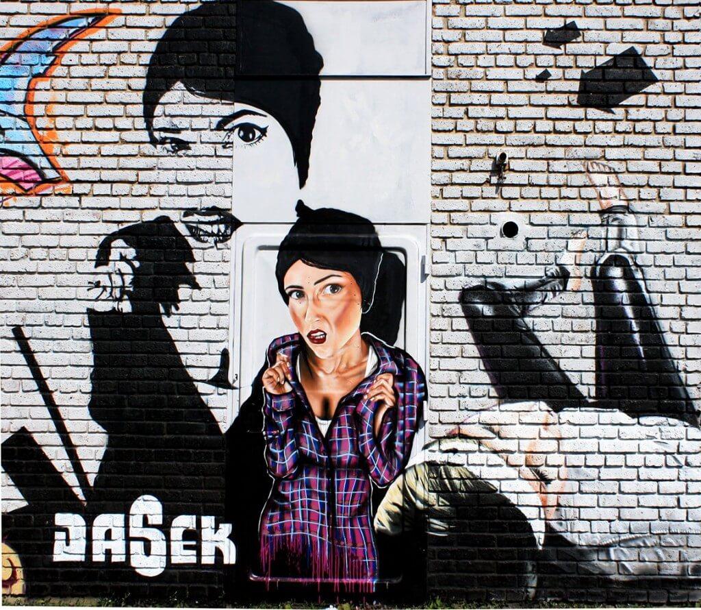 Mural by Sokar Uno & Max Kosta - Paris (FR) 2010