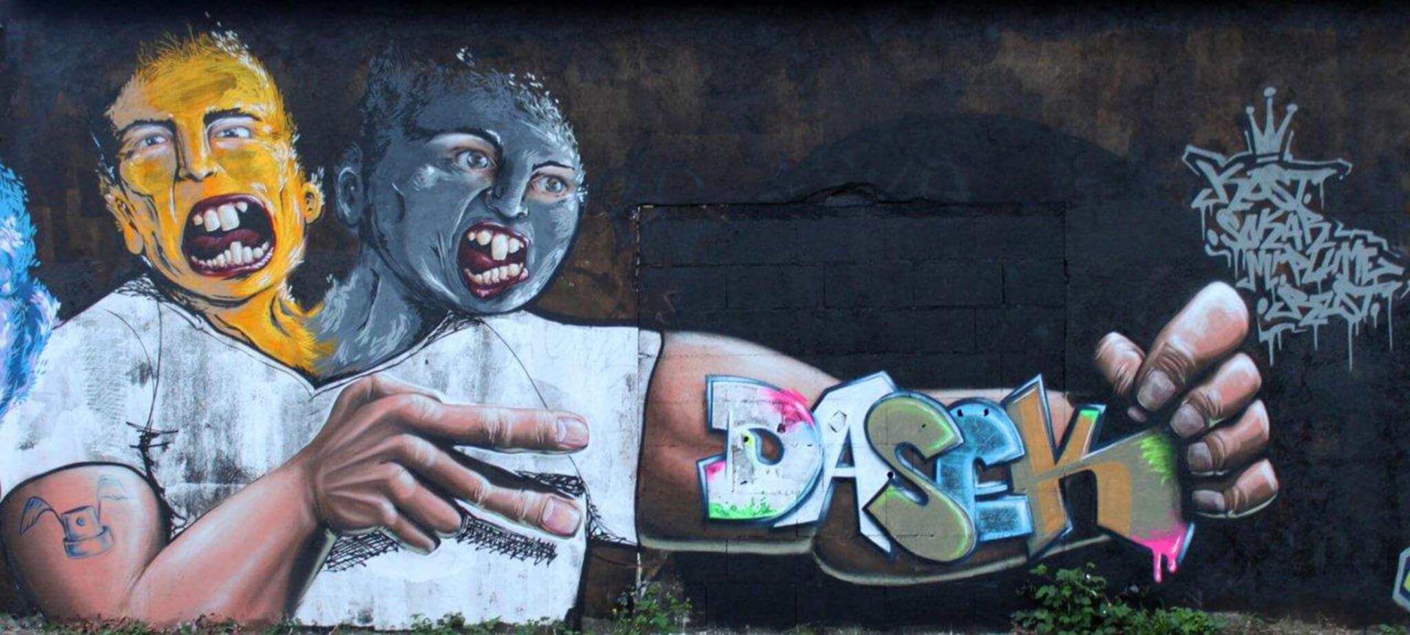 """unsymetric twins"" - Max Kosta, Sokar Uno, Mr. Plume / Tours (FR)2010"