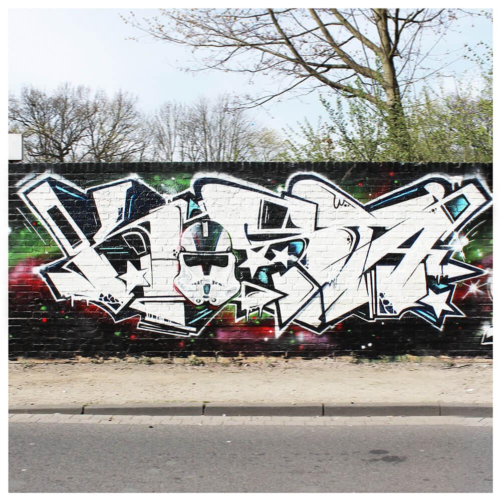 """Kosta"" Graffiti in Dinslaken 2015 by Max Kosta (Urban Art Jam)"