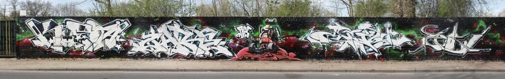 Graffiti in Dinslaken 2015 by RDF Crew (Urban Art Jam)