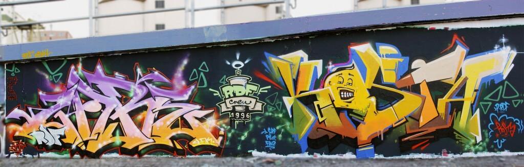 Graffiti in Erfurt by Kosta an Zare 2014