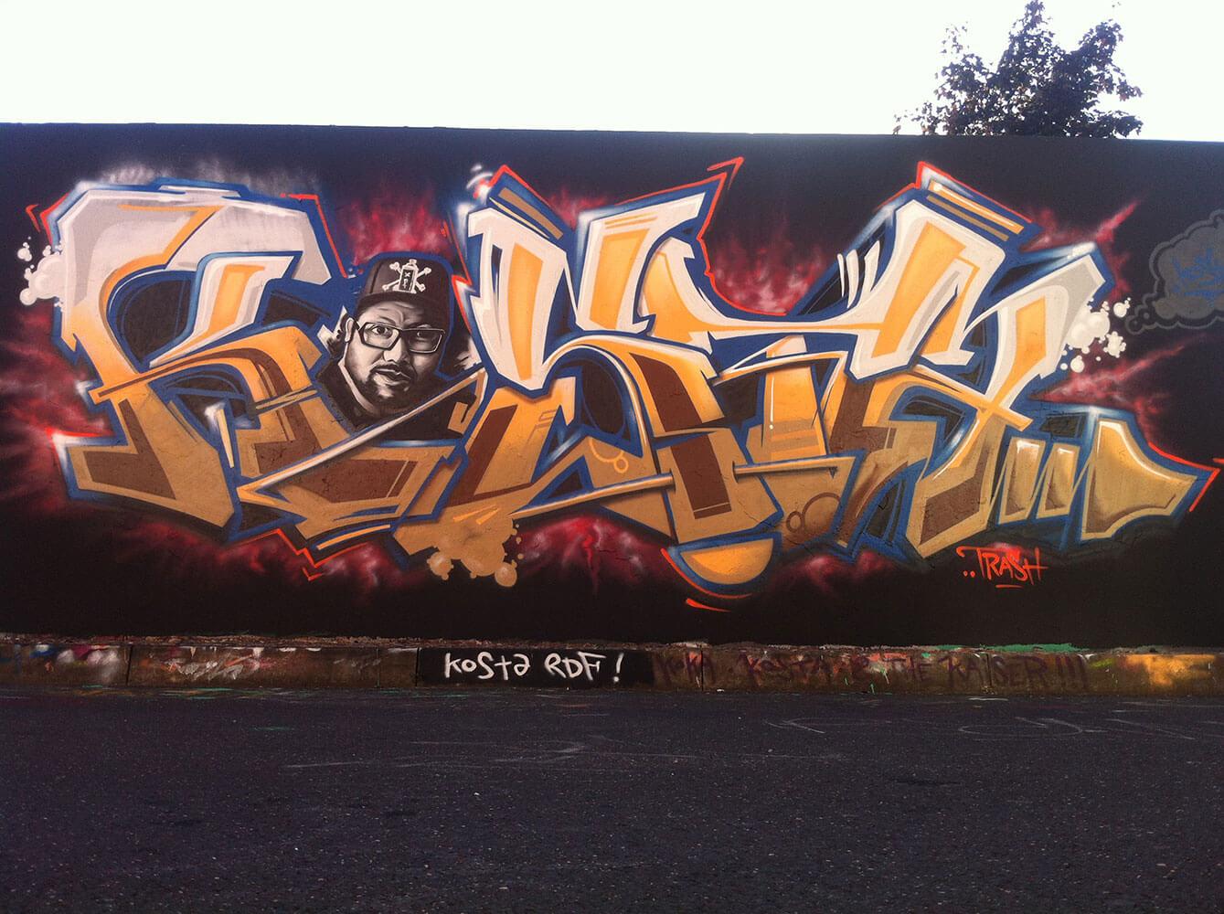 Kosta Graffiti - Max Kosta / Pressenwerk Bad Salzungen 2011