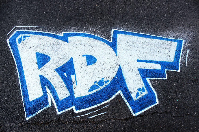 RDF Graffiti on concrete