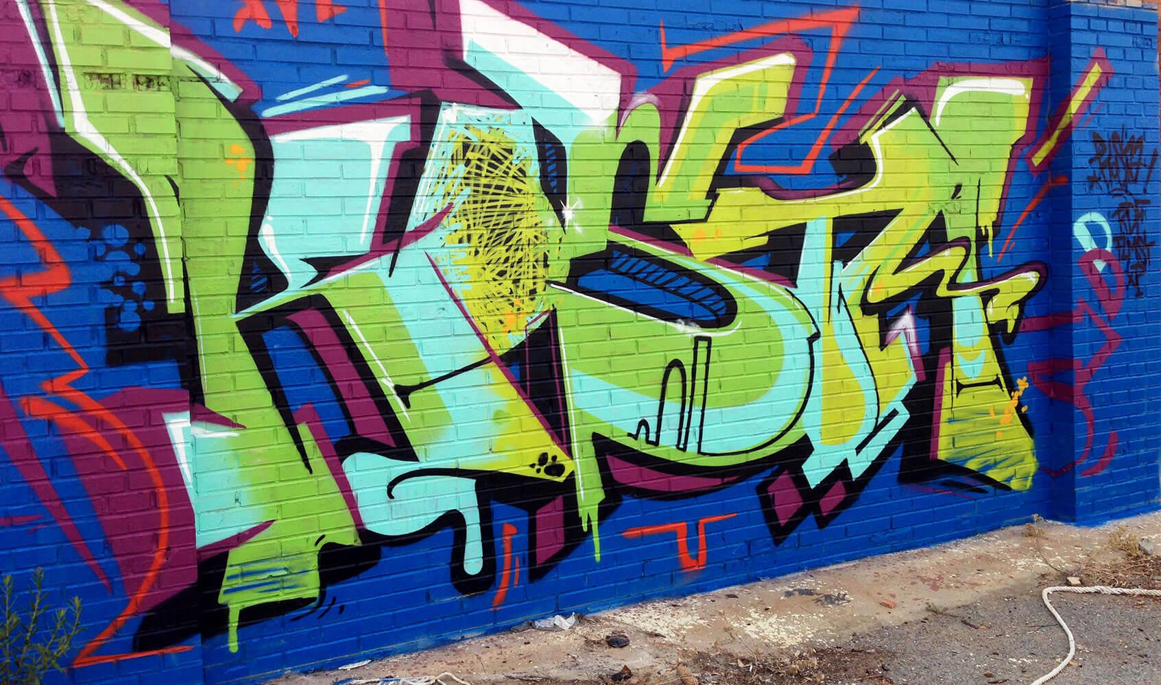 "Graffiti in Malaga ""Kosta"" by artist Max Kosta 2015"