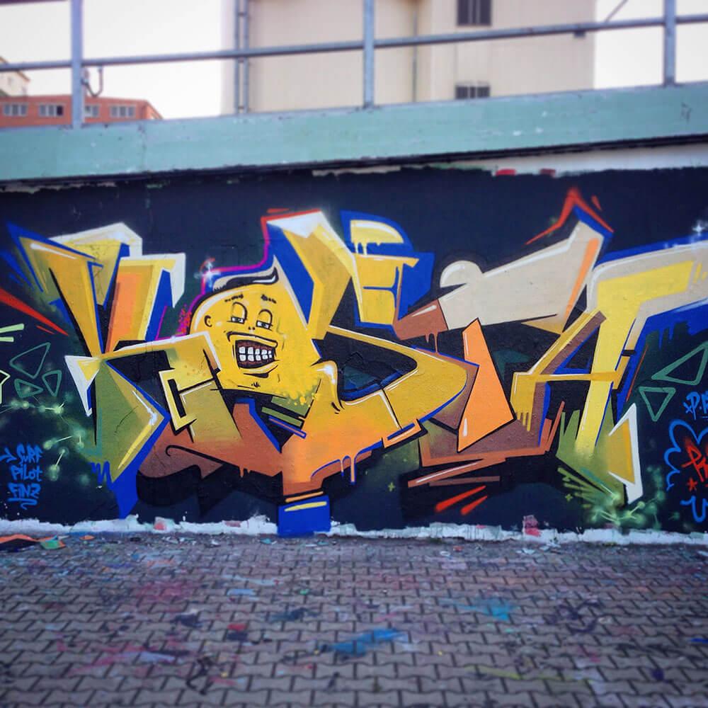 Graffiti in Erfurt by Kosta - Max Kosta 2014