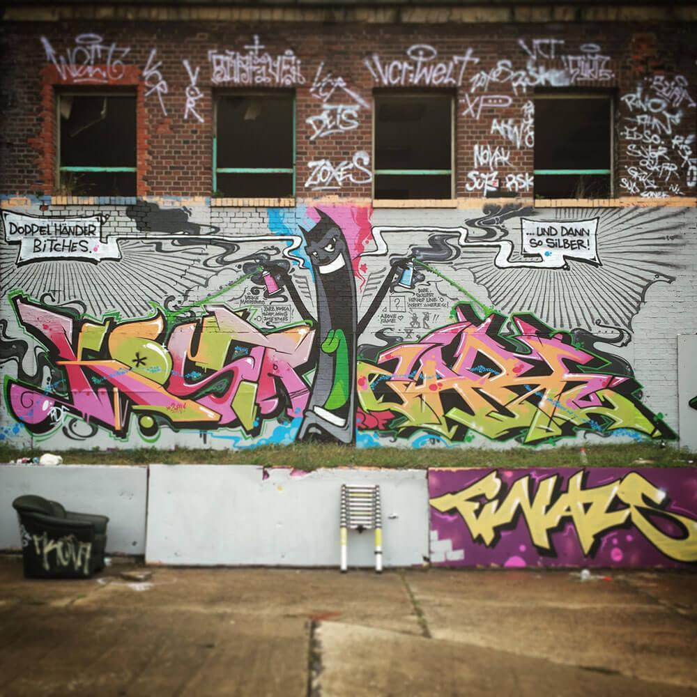 Graffiti in Magdeburg. Meeting Of Styles 2015