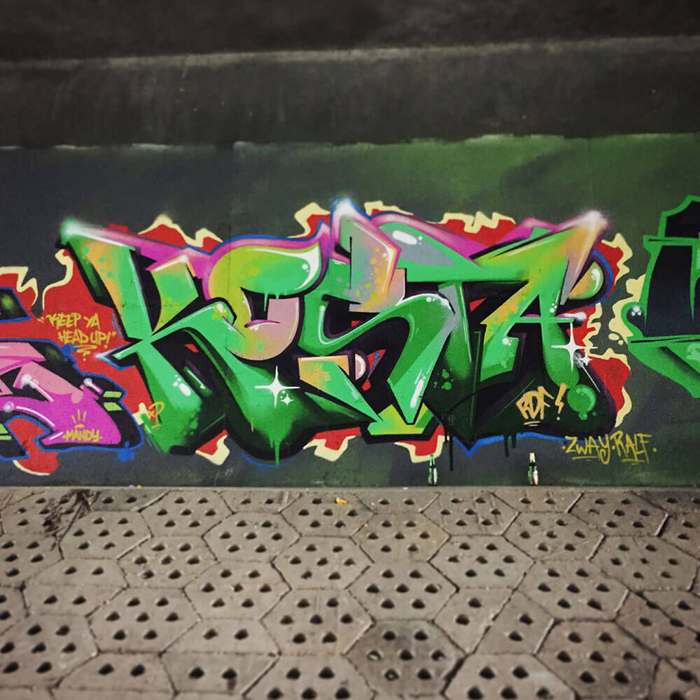 Graffiti in Erfurt at Strandgut 2015 - Max Kosta