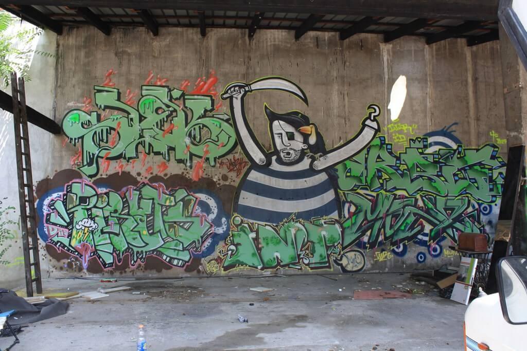 Graffiti wallpainting - Milano (IT) 2012