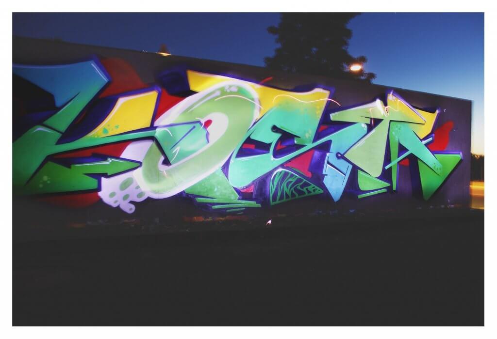 Kosta Lightpainting Graffiti am Pressenwerk 2017