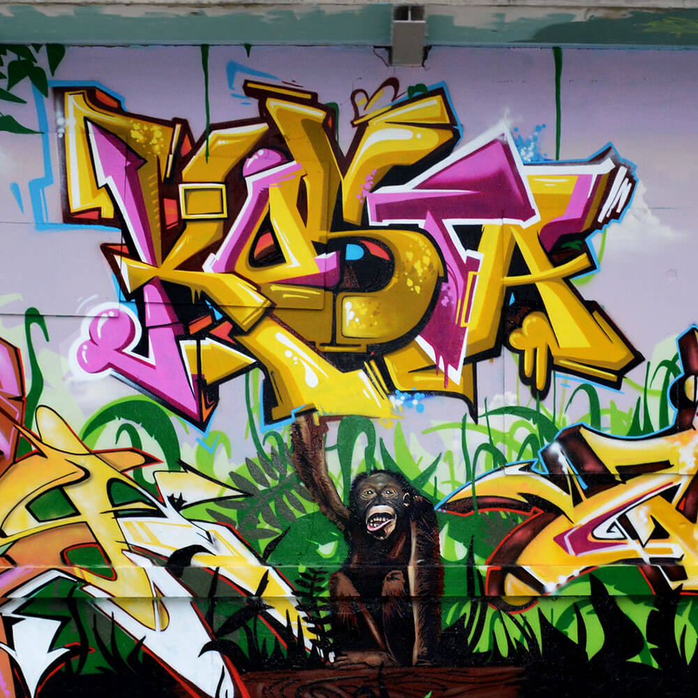 Graffiti at Meeting Of Styles Germany by Max Kosta 2015