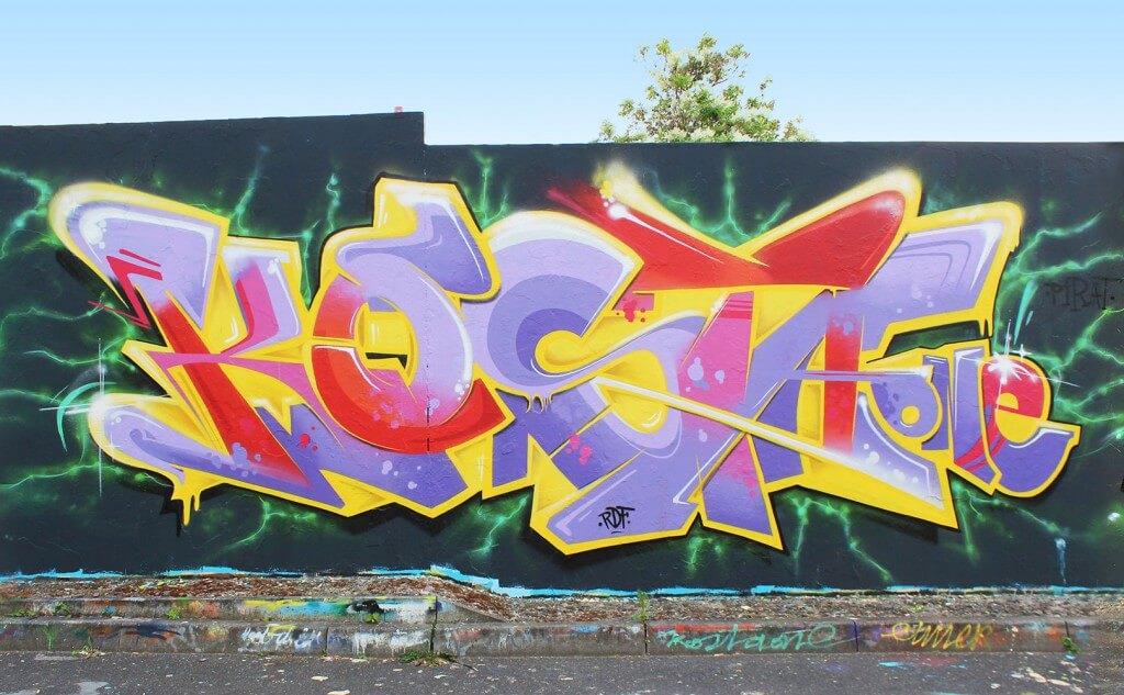 Kosta Graffiti in Bad Salzungen by Max Kosta 2015