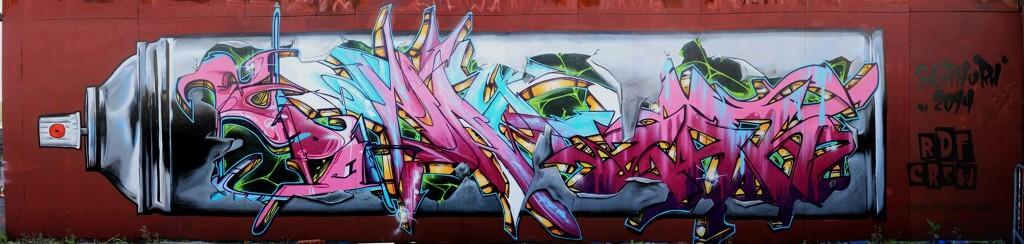 Graffiti Jam Solothurn - Spraycan by artist Max Kosta