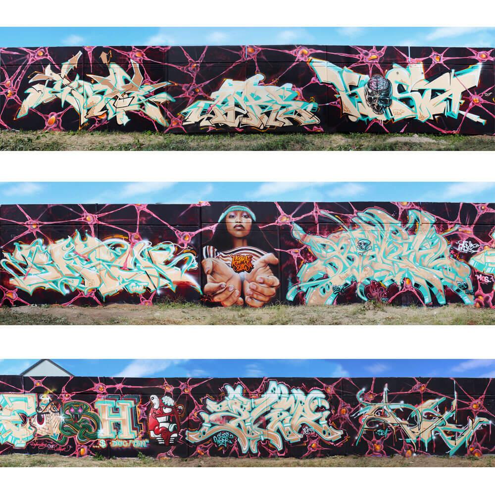 "Graffiti in Wiesbaden at ""Meeting Of Styles"" 2015"