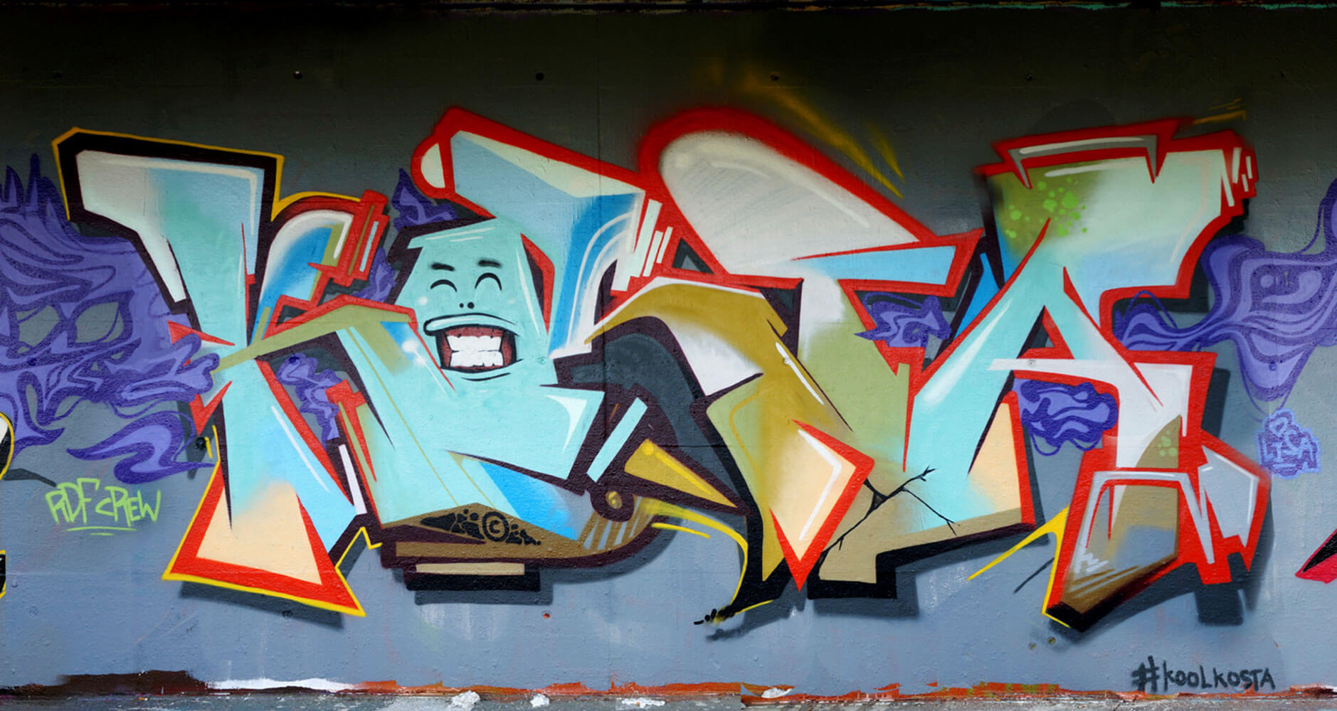 Kosta Graffiti by Max Kosta in Wettingen 2014
