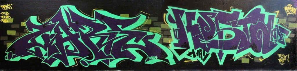 Zare Kosta Graffiti in Paris (FR) 2015