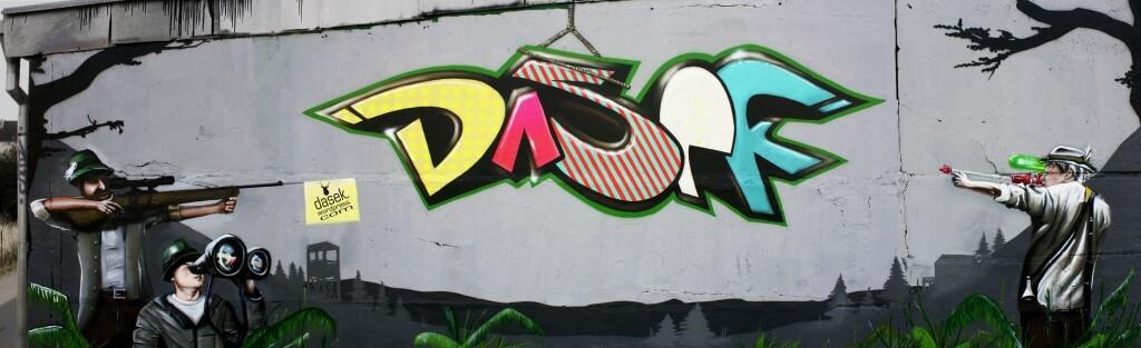 """Dasek"" Graffiti Wall - Max Kosta, Krasty & Herr Haase 2008"