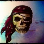 Piratenkopf Graffiti