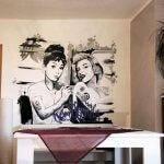 marilyn monroe & audrey hepburn Graffiti