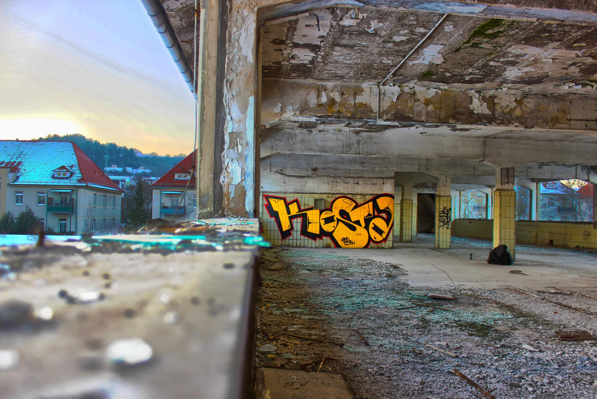 Graffiti Eisenach Kosta - HDR Fotografie