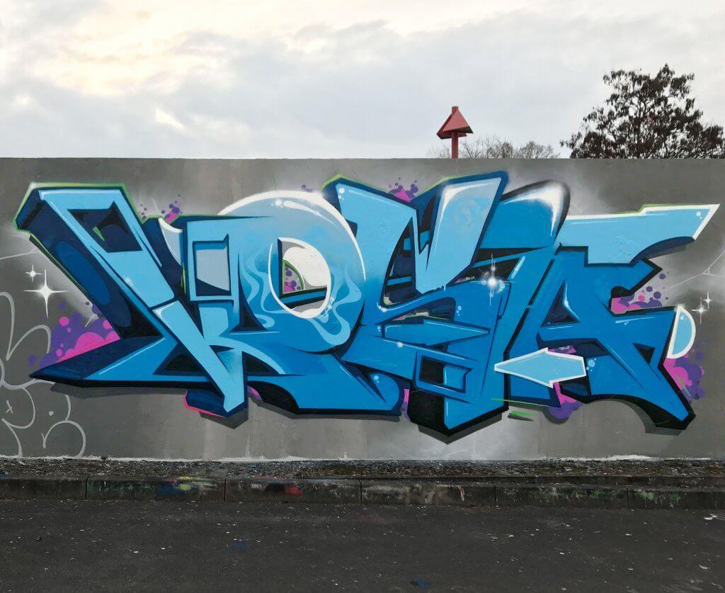 Graffiti Bad Salzungen 2017 - Max Kosta am Pressenwerk