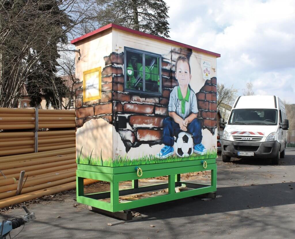Werra Energie - Graffiti an mobiler Gasstation 2017