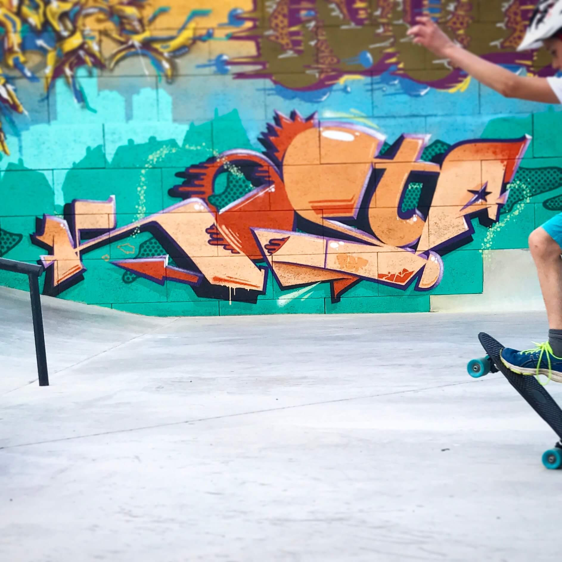 Skatepark Erfurt - Ilversgehofen Graffiti von Max Kosta 2017