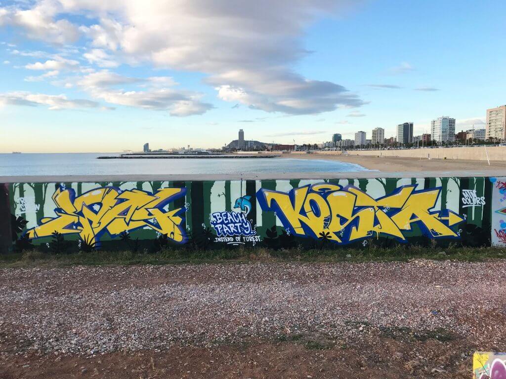 zway und kosta - graffiti in barcelona januar 2018